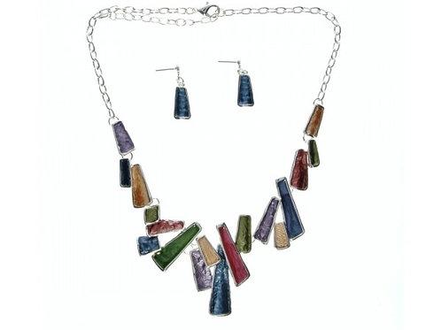 Cubist Necklace& Earring set
