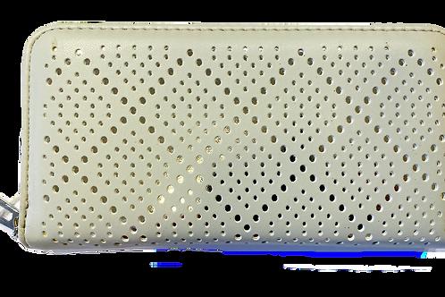 Silver back purse