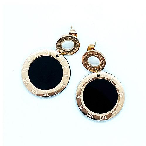 Dial design Earrings