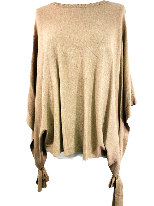 Bow Side Poncho Jumper