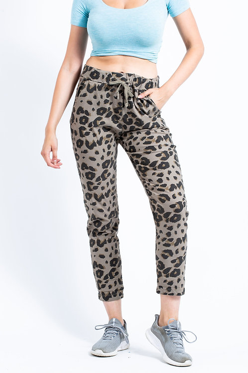 Leopard print magic trousers
