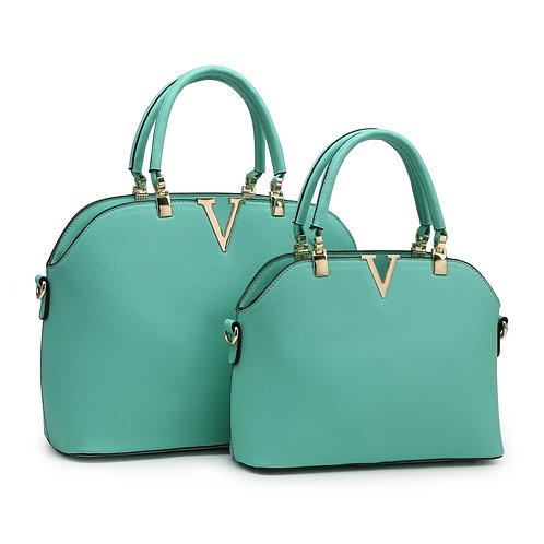 V necked handbag