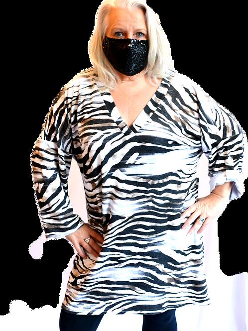 Zebra V-Neck Tunic