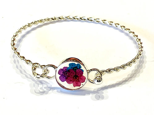Natural flower bangle