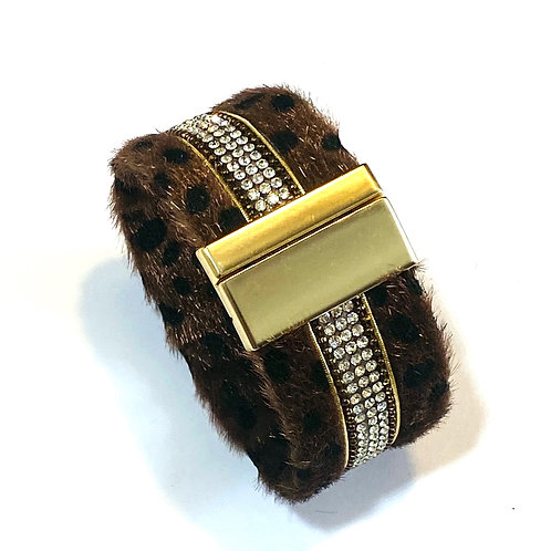 Faux Animal Print Wrap bracelet
