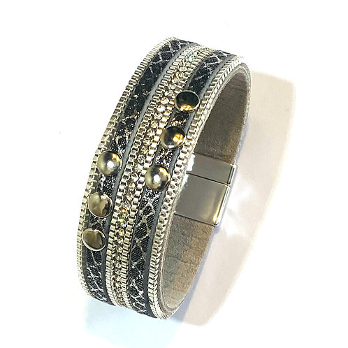 Small studded wrap bracelet