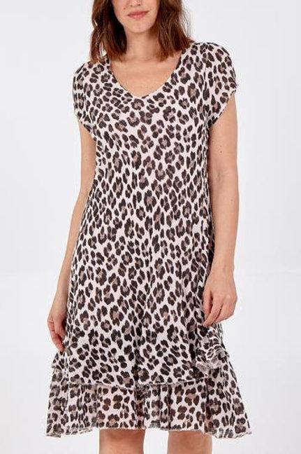 Leopard print layered dress
