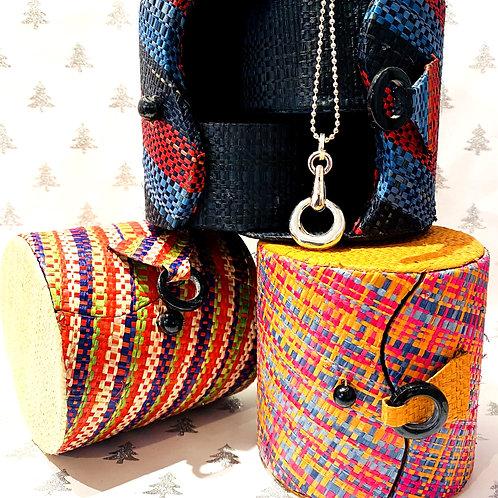 Raffia Jewellery box Small.