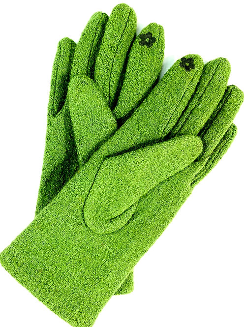 Plain glove with touch screen detail