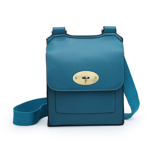 Across the body satchel bag with turn key