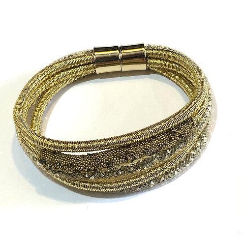 Multi Strand Gold Bracelet