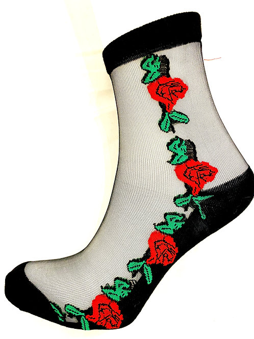 Sheer Floral socks