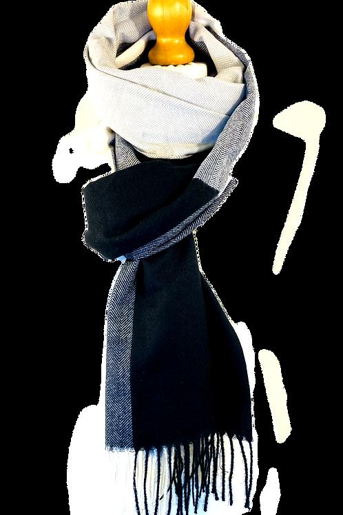 Black White Grey scarf