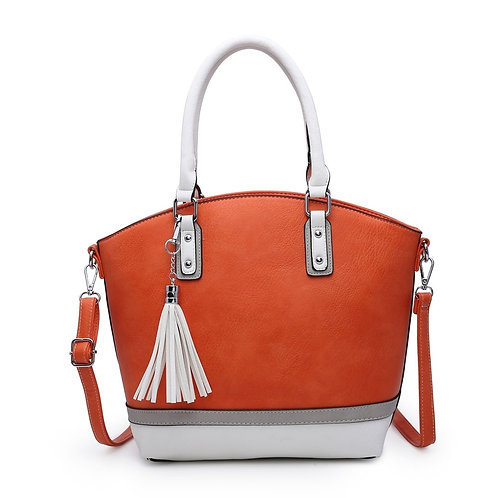 Stripe and Tassel handbag