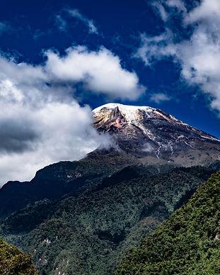 Beautiful view of the Tolima snowy peak