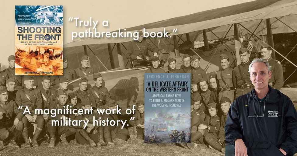 Photo of Terrence Finnegan author of Shooting the Front and A Delicate Affair, WW1 Aviation and Battle of Seicheprey
