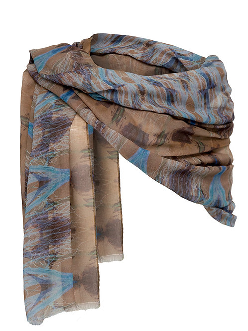 Ephemera Memory Blue and Tree Scarf/Wrap/Sarong