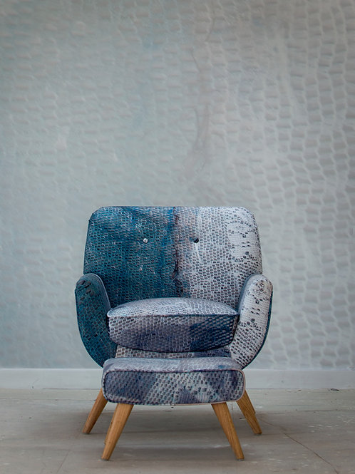Ephemera Net Chair and Footstool 1