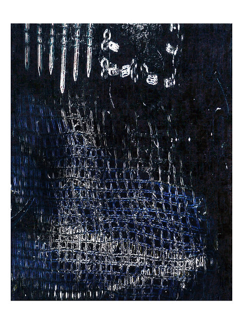 Ephemera Sharp Dark Canvas 51cm x 41cm.