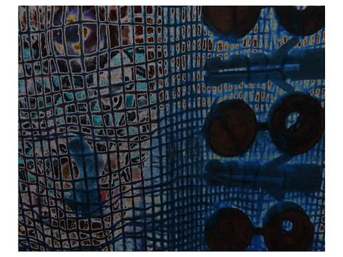 Ephemera Memory Blue 102cm x 82cm.
