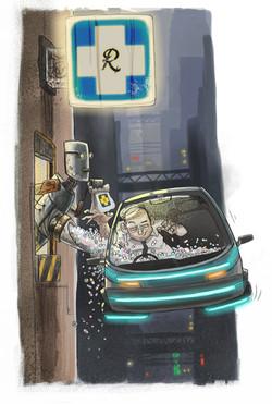 Pharmacy future print cartoon