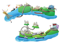 Unused 'Mobil' crude oil process art