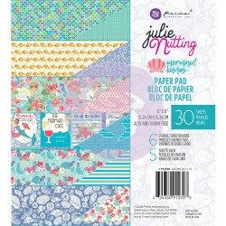 Mermaid Kisses Paper Pad 6x6, Julie Nutting