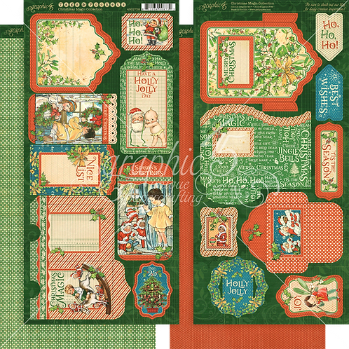 Christmas Magic Tags and Pockets, Graphic 45