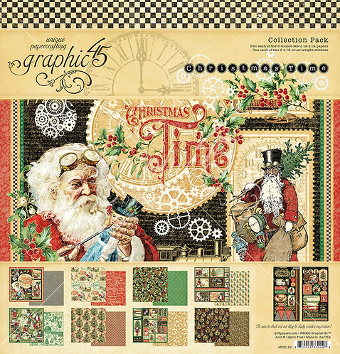 Christmas Time 12x12 Collection Pack, Graphic 45