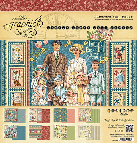Penny's Paper Doll Family, 12x12 Paper Pad, Graphic 45