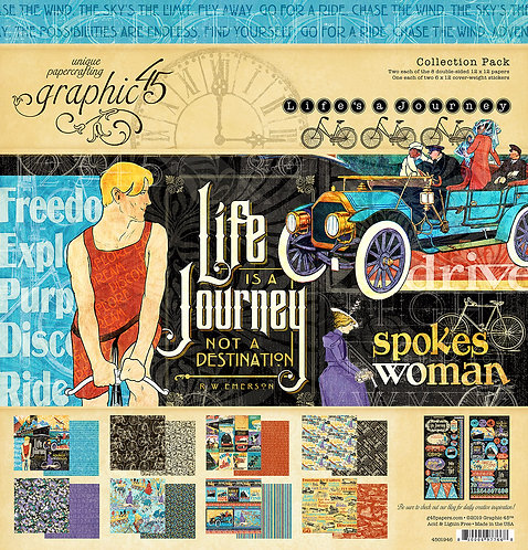Life'a a Journey Collection Pack, Graphic 45, 12x12