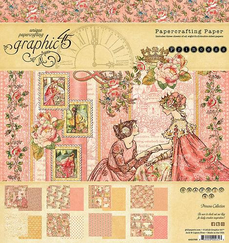 Princess 8x8 Paper Pad, Graphic 45