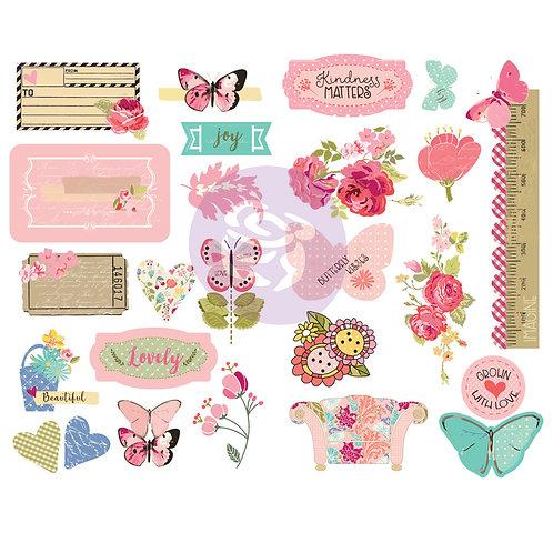 Butterfly Bliss Chipboard Stickers, Julie Nutting
