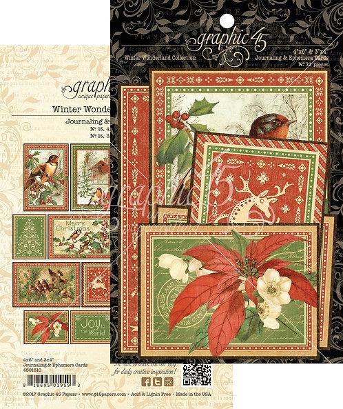 Winter Wonderland Ephemera and Journaling Cards, Graphic 45