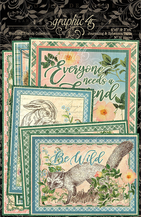 Woodland Friends Ephemera and Journaling Crds, Graphic 45
