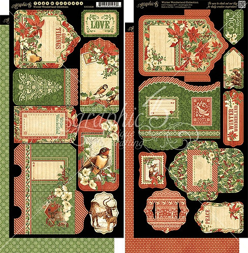Winter Wonderland Tags and Pockets, Graphic 45