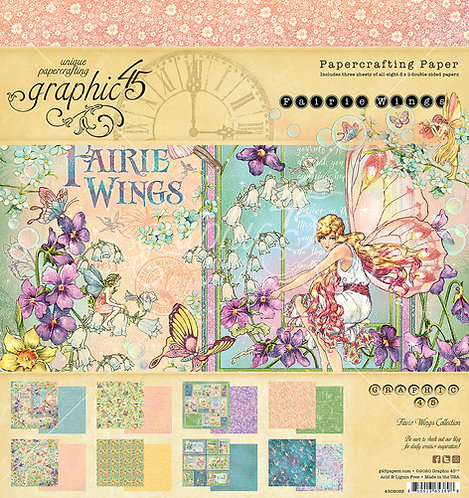 Fairie Wings 8x8 Paper Pad, Graphic 45
