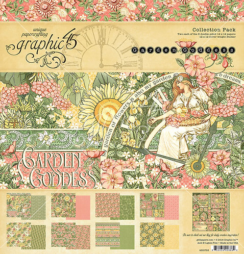 Garden Goddess 12x12 Collection Pack, Graphic 45