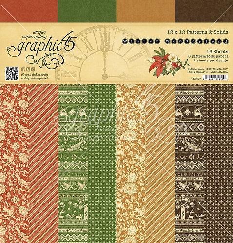 Winter Wonderland, 12x12 Patterns and Solids, Graphic 45