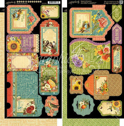 Seasons Tags and Pockets, Graphic 45