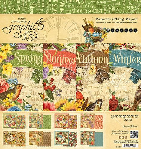Seasons 12x12 Paper Pad, Graphic 45