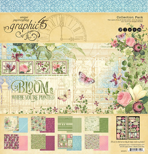 Bloom 12x12 Collection Pack, Graphic 45