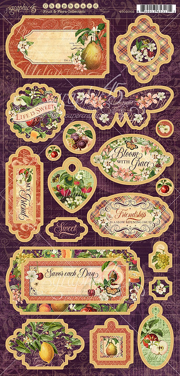 Fruit and Flora Chipboard, Graphic 45