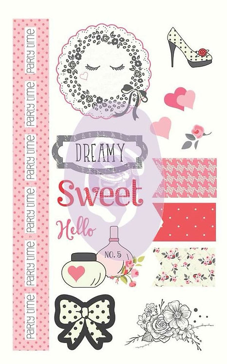 Chipboard Stickers, Julie Nutting, Pink and Black Collection