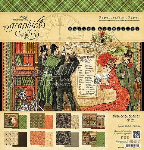 Master Detective,12x12 Paper Pad, Graphic 45