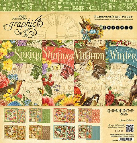Seasons, 8x8 Paper Pad, Graphic 45