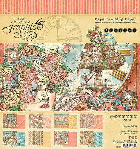 Imagine, Graphic 45, 8x8 Paper Pad