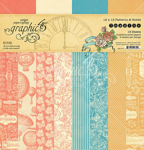 Imagine, Graphic 45, 12x12 Patterns and Solids