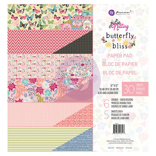 Butterfly Bliss, 12x12 Paper Pad, Julie Nutting