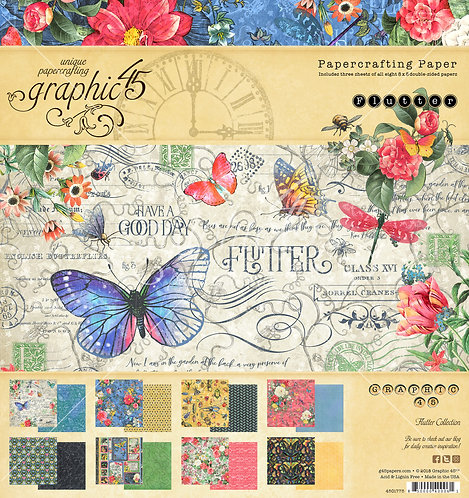 Flutter 8x8 Paper Pad, Graphic 45